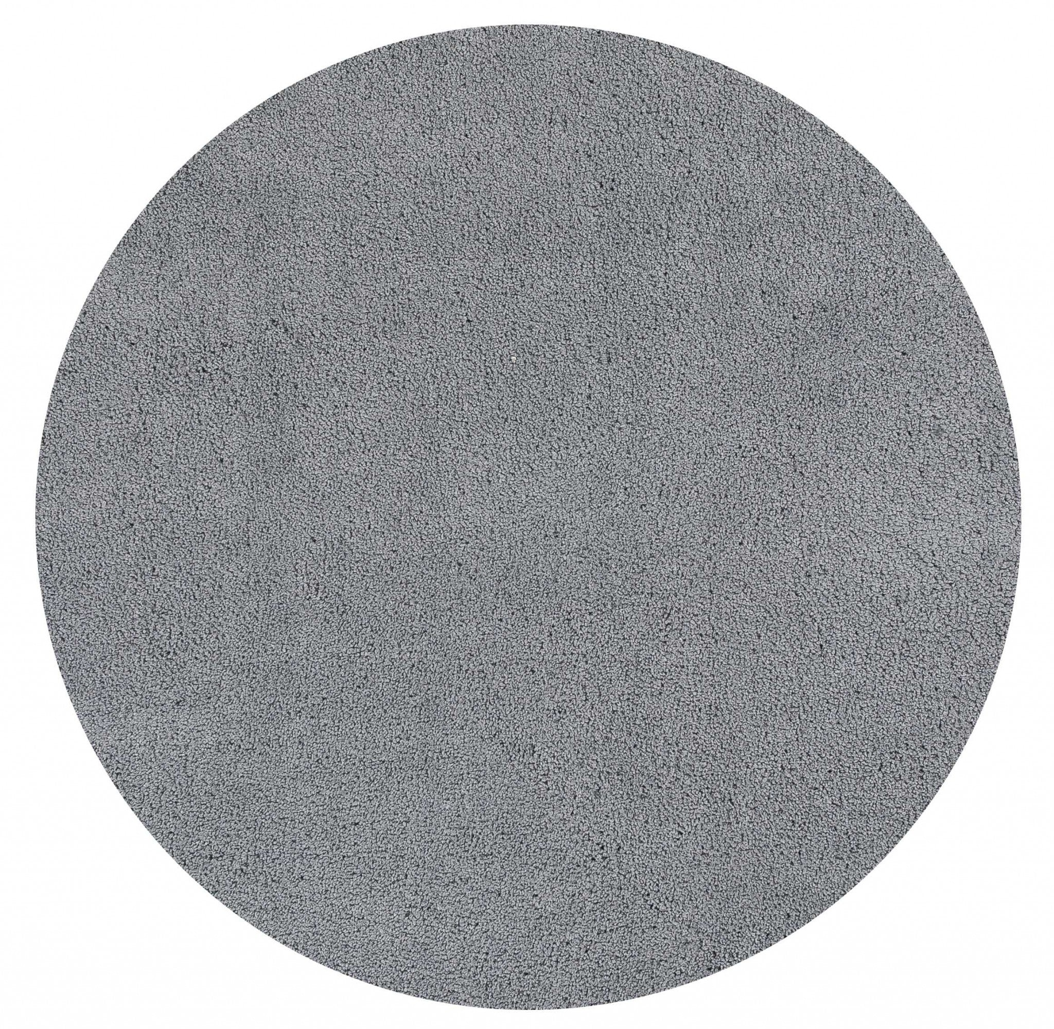 HomeJazz™ Area Rug Grey Polyester 6' Round