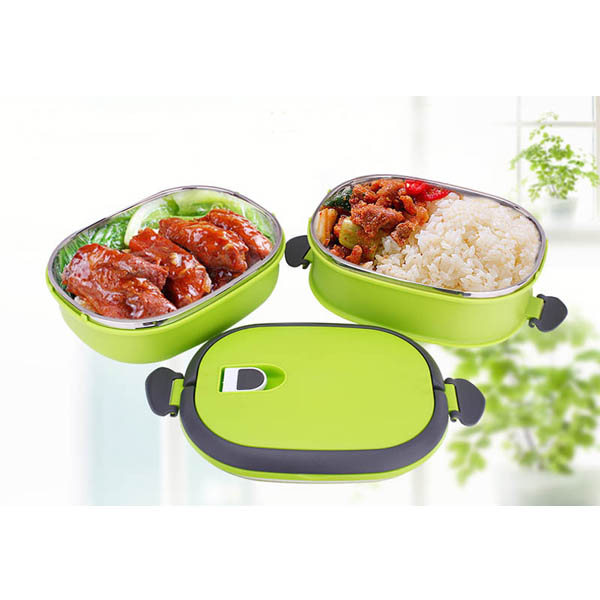 HomeAlive™ Bento Lunch Box Vacuum Seal Steel Thermal Insulation Dual Handle