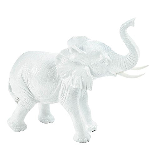 HomeJazz™ White Elephant Ceramic Figurine