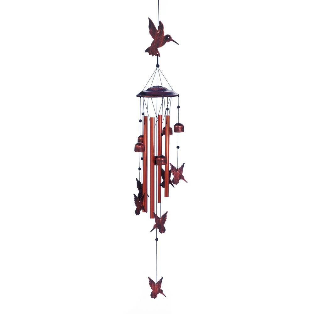 HomeAlive™ Wind Chimes Fluttering Hummingbirds Multi-Color