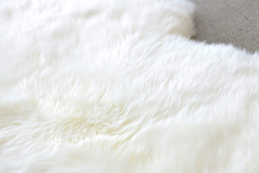 "HomeJazz™ Area Rug Natural Double Sheepskin-24"" x 72"" x 2"""