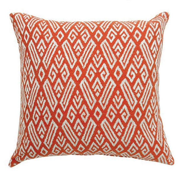 HomeJazz™ Small Pillow With Red Finish Fabric, Contemporary, Set of 2