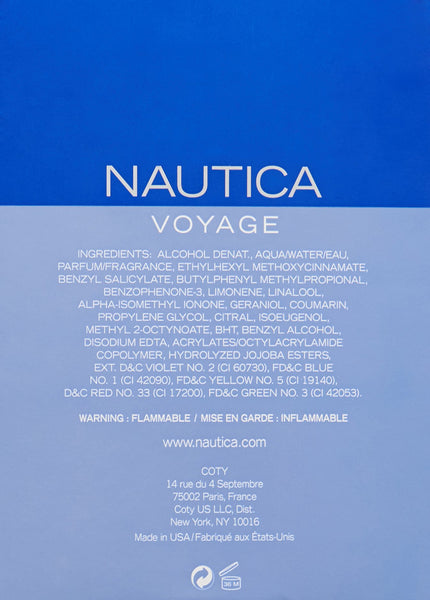 SweetScent™ NAUTICA VOYAGE FOR MEN Eau De Toilette Spray 3.4 EDT SP