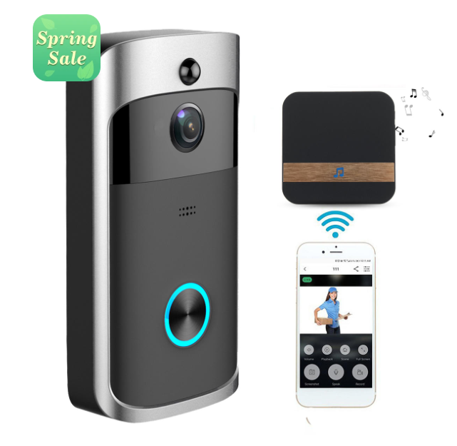 ElectroWire™ Wireless Video Doorbell Camera Home Security Smartphone Remote