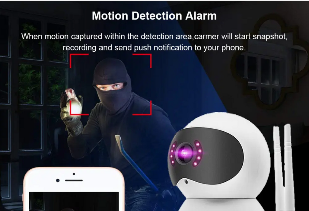 ElectroWire™ Wireless Security Camera Night Vision IR Cut