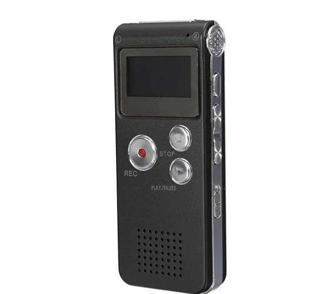ElectroWire™ Digital Audio Voice Recorder MP3 Player Steel Rechargeable-Black