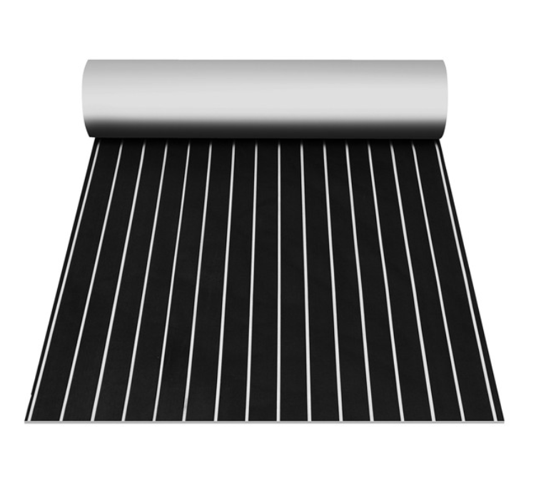 SailAway™ Yacht Decking Pad Synthetic Teak Black with White EVA Foam Flooring Sheet
