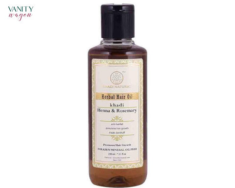 Vanity Wagon I Khadi Natural Herbal Hair Oil for Hair Growth with Henna and Rosemary