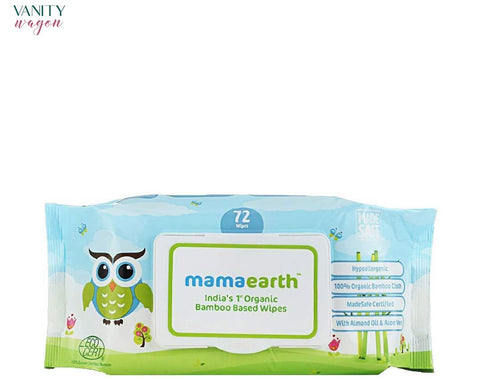 Vanity Wagon I Mamaearth Organic Bamboo Based Wipes, For Babies, with Almond Oil and Shea Butter