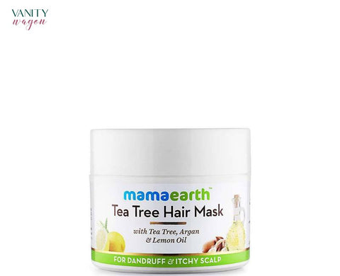 Vanity Wagon I Mamaearth Tea Tree Hair Mask For Dandruff and Itchy Scalp with Tea Tree, Argan, and Lemon Oil