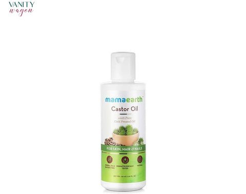 Vanity Wagon I Mamaearth Castor Oil for Healthier Skin, Hair & Nails with 100% Pure Cold-Pressed Oil