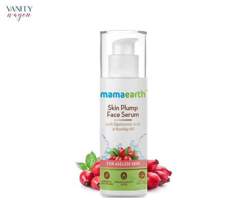 Vanity Wagon I Mamaearth Skin Plump Face Serum with Hyaluronic Acid and Rosehip oil