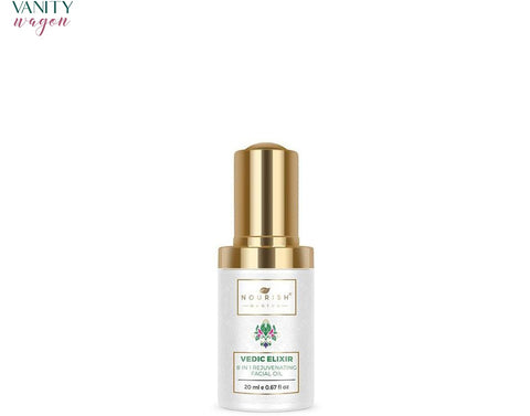 Vanity Wagon I Nourish Mantra Vedic Elixir 8-in-1 Rejuvenating Facial Oil with Hemp Oil and Sweet Almond Oil