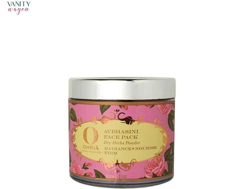 Vanity Wagon I Ohria Ayurveda Avbhasini Face Pack, Dry Herbs Powder for Radiance, Nourish and Firm Skin