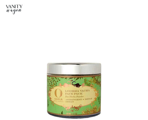 Vanity Wagon I Ohria Ayurveda Lodhra Vacha Face Pack, Dry Herbs Powder for Astringent, Detox and De-Ta