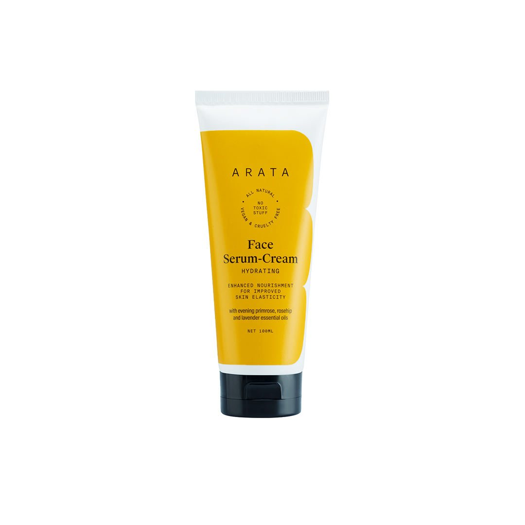 Arata Zero Chemicals Face Serum Cream, with Evening Primrose Oil, Rosehip Oil, Kokum and Aloe Butter