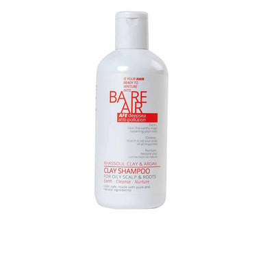 BareAir Clay Shampoo for Oily Scalp and Roots with Rhassoul Clay and Argan -1