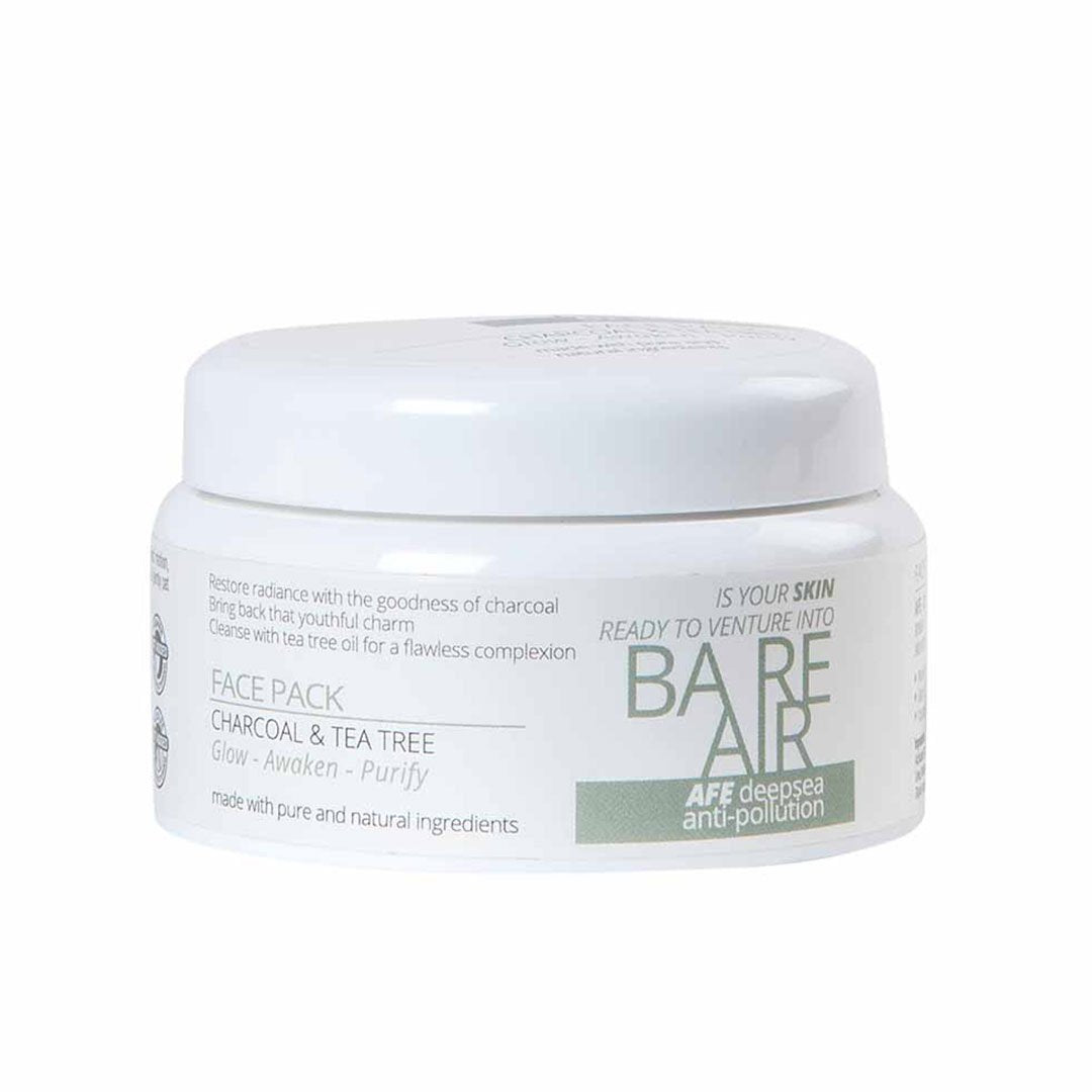 BareAir Face Pack with Charcoal and Tea Tree -1