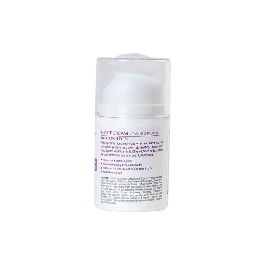 BareAir Night Cream for Scars and Spots with Provitamis and Protein -2