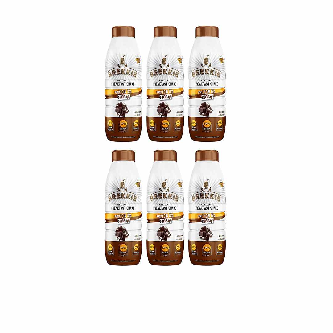 Brekkie Protein Breakfast Shake, Chocolate (Pack of 6)