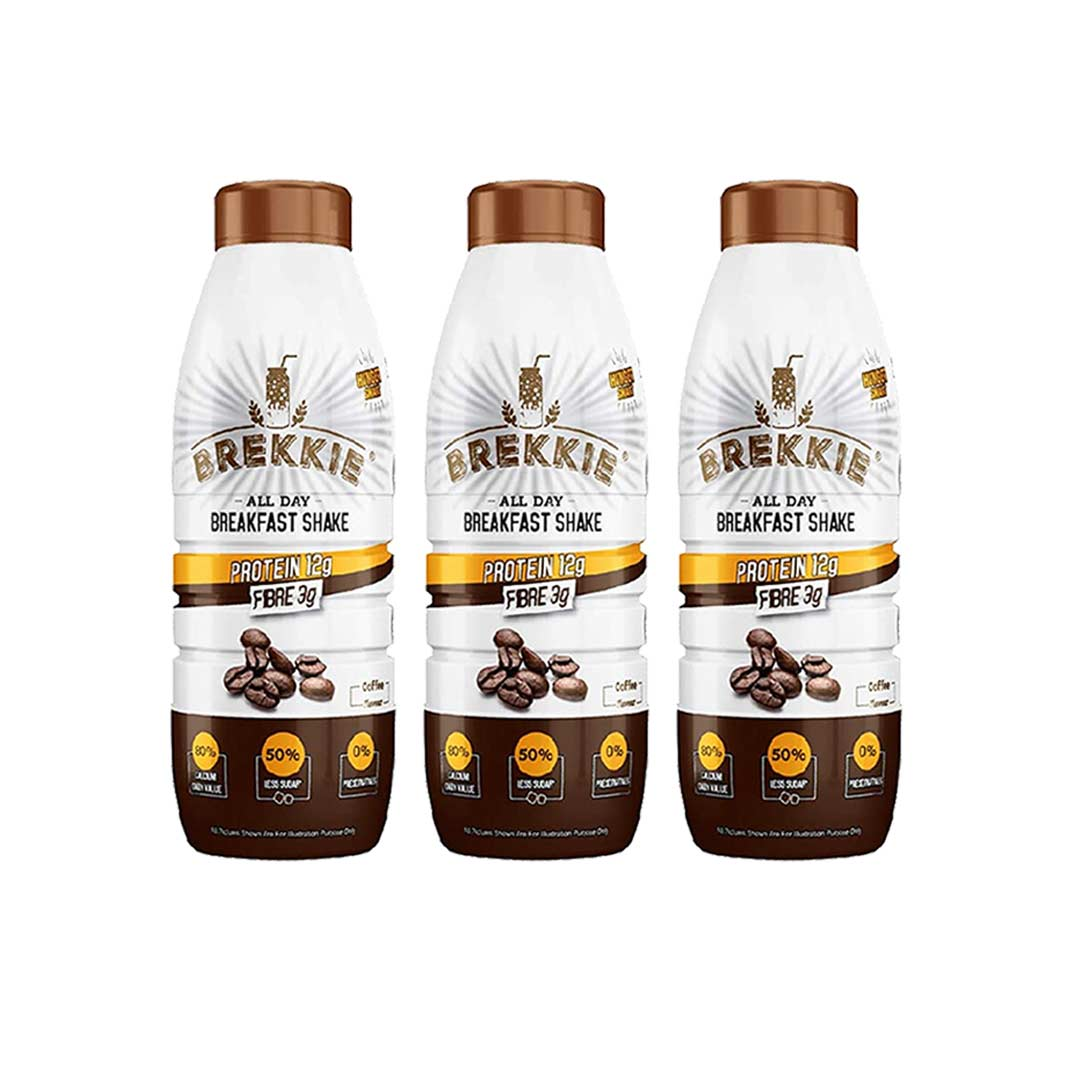 Brekkie Protein Breakfast Shake, Coffee (Pack of 3)
