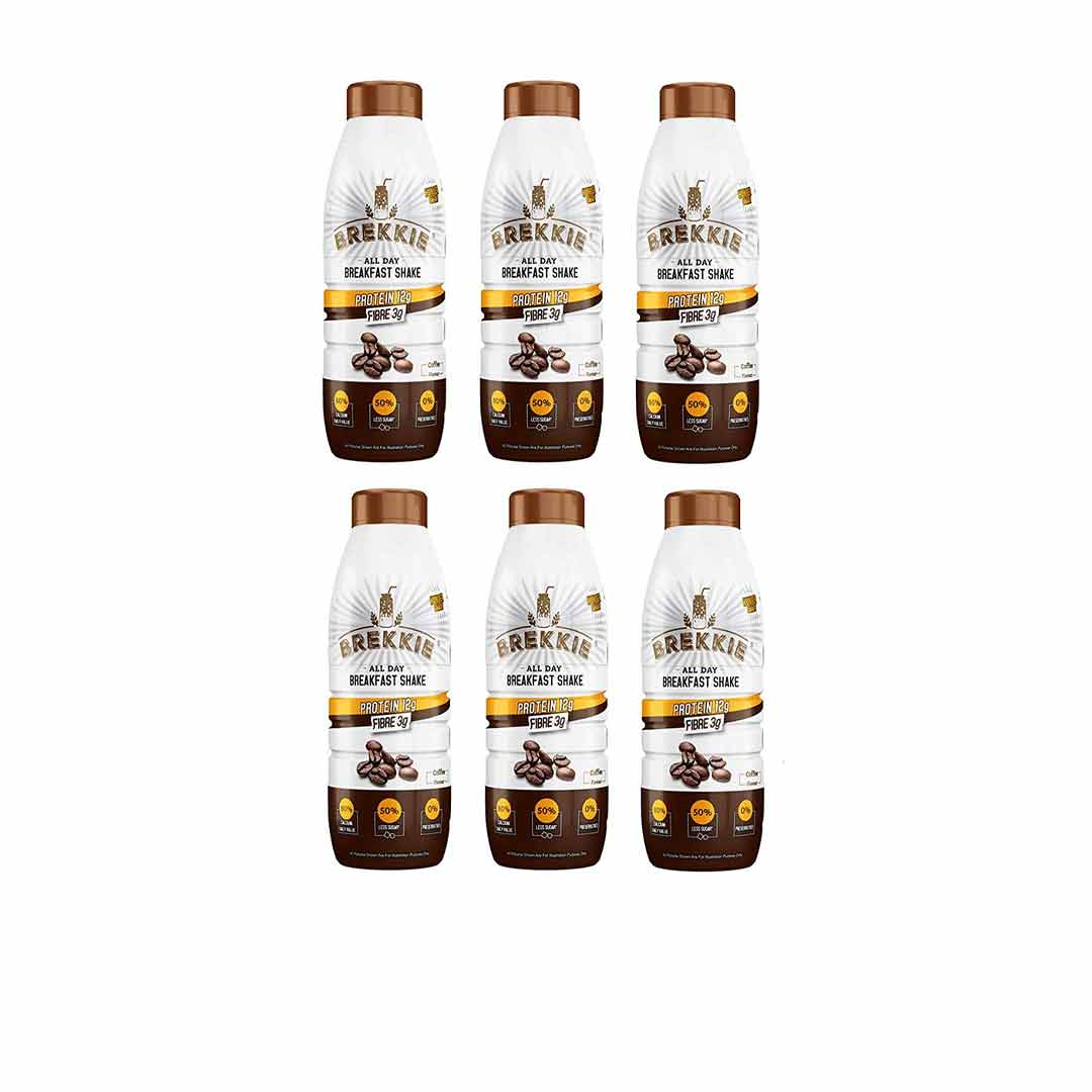 Brekkie Protein Breakfast Shake, Coffee (Pack of 6)