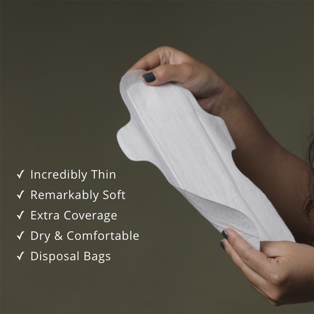 Carmesi Eco-Conscious, Sanitary Pads for Rash-Free and Eco-Friendly Periods (30 L)