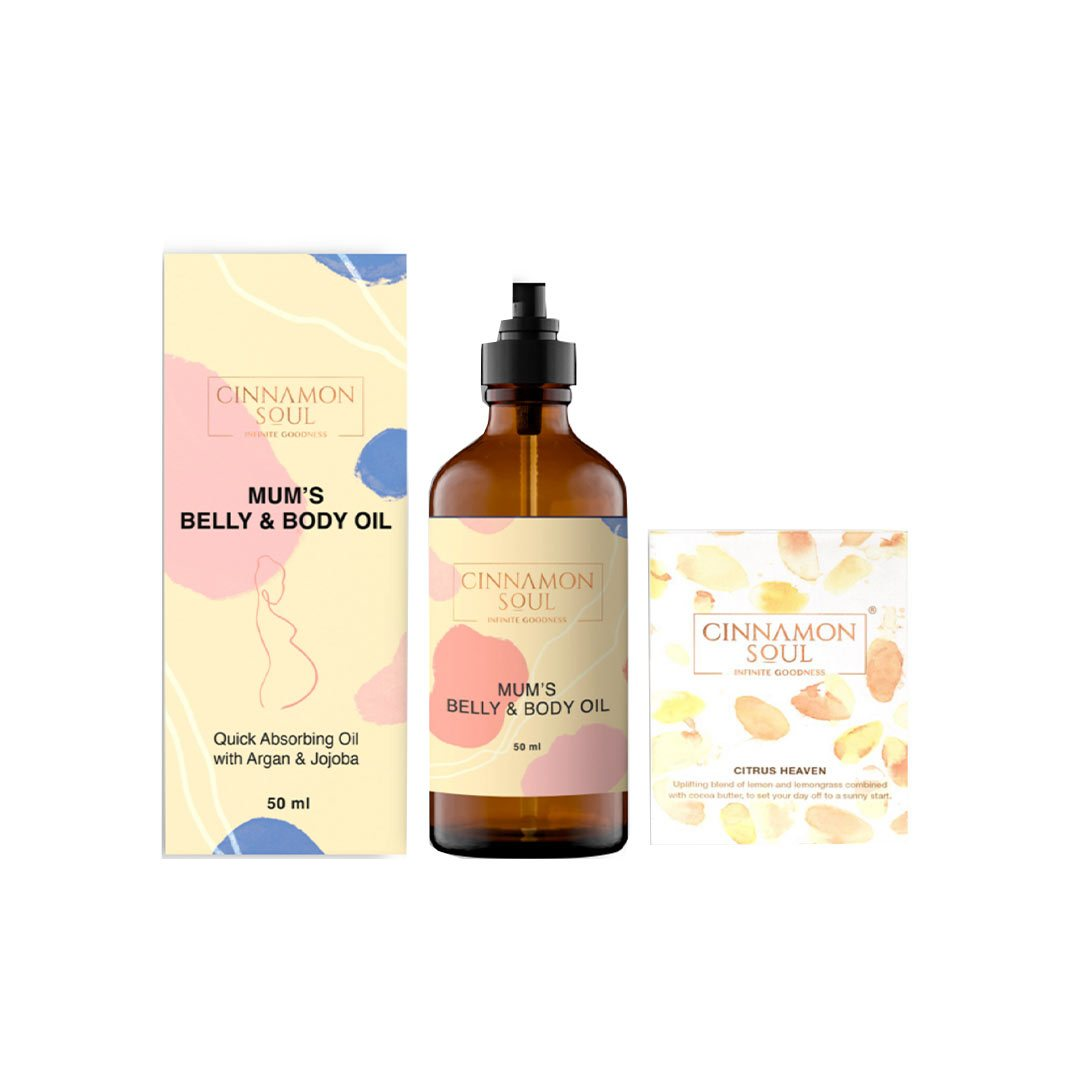 Cinnamon Soul Mama Love Bundle - Mums Belly Oil & Citrus Heaven Soap
