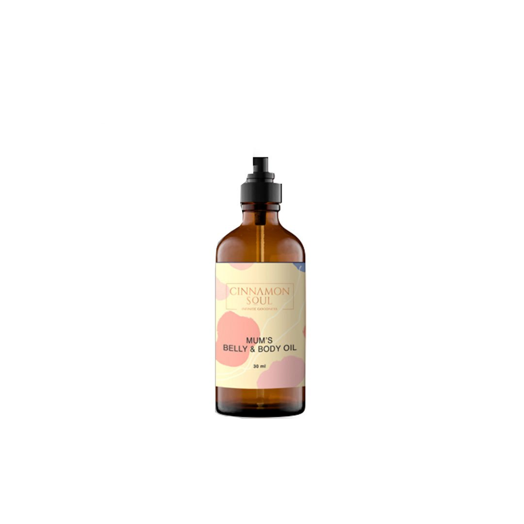 Cinnamon Soul Mums Belly Bump Oil with Argan Oil and Jojoba Oil