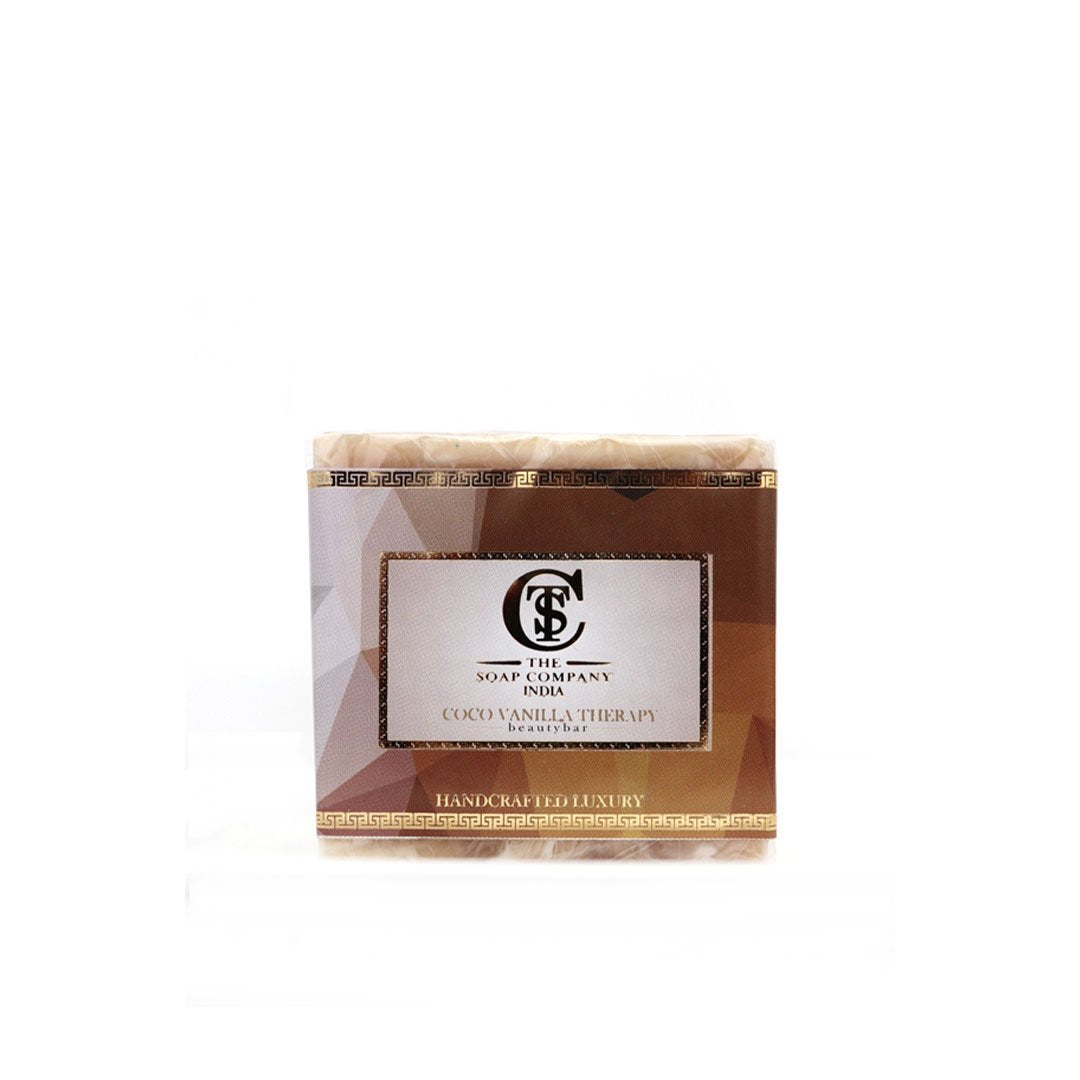 The Soap Company India Coco Vanilla Therapy Beauty Bar with Cocoa Butter, Vanilla, Milk and Almond Oil -1