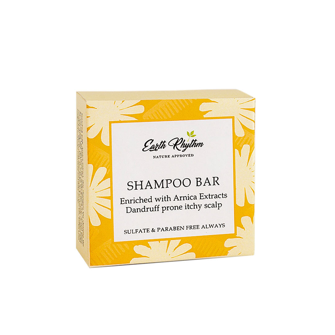 Vanity Wagon | Buy Earth Rhythm Shampoo Bar for Dandruff prone Itchy Scalp with Arnica Extracts
