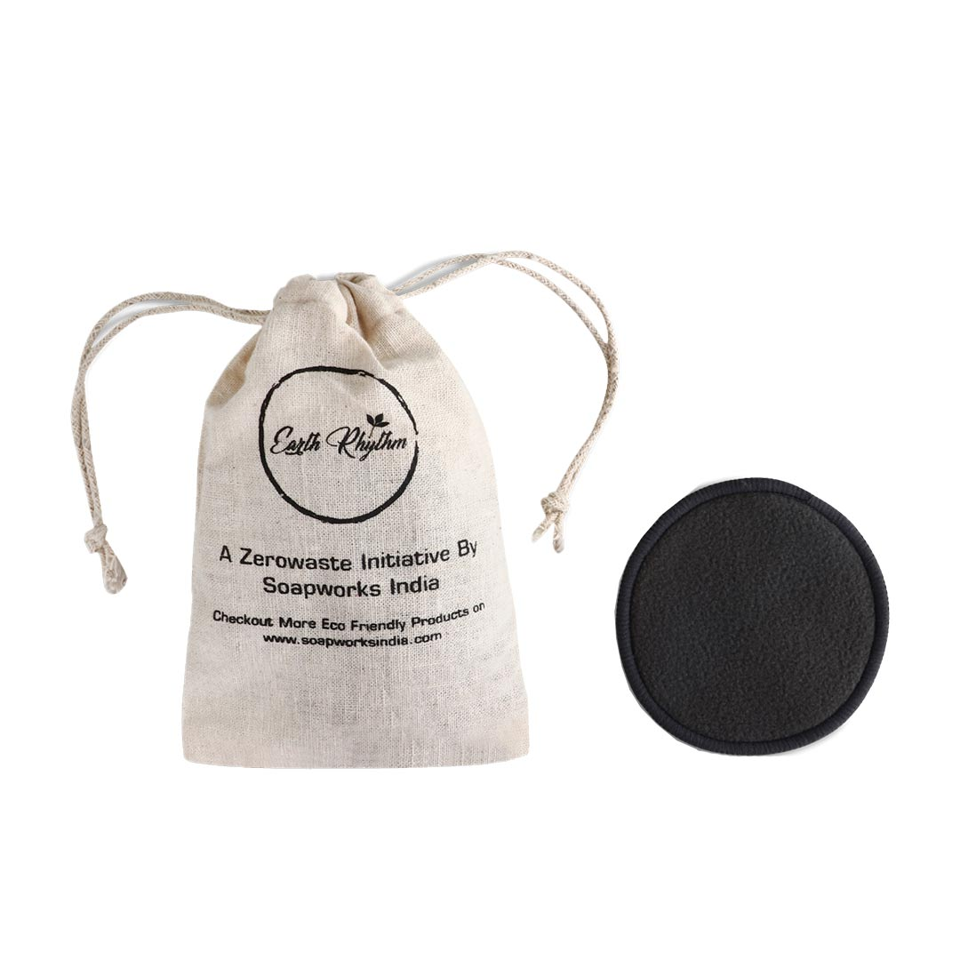 Vanity Wagon | Buy Earth Rhythm Bamboo Charcoal Facial Pad, Black