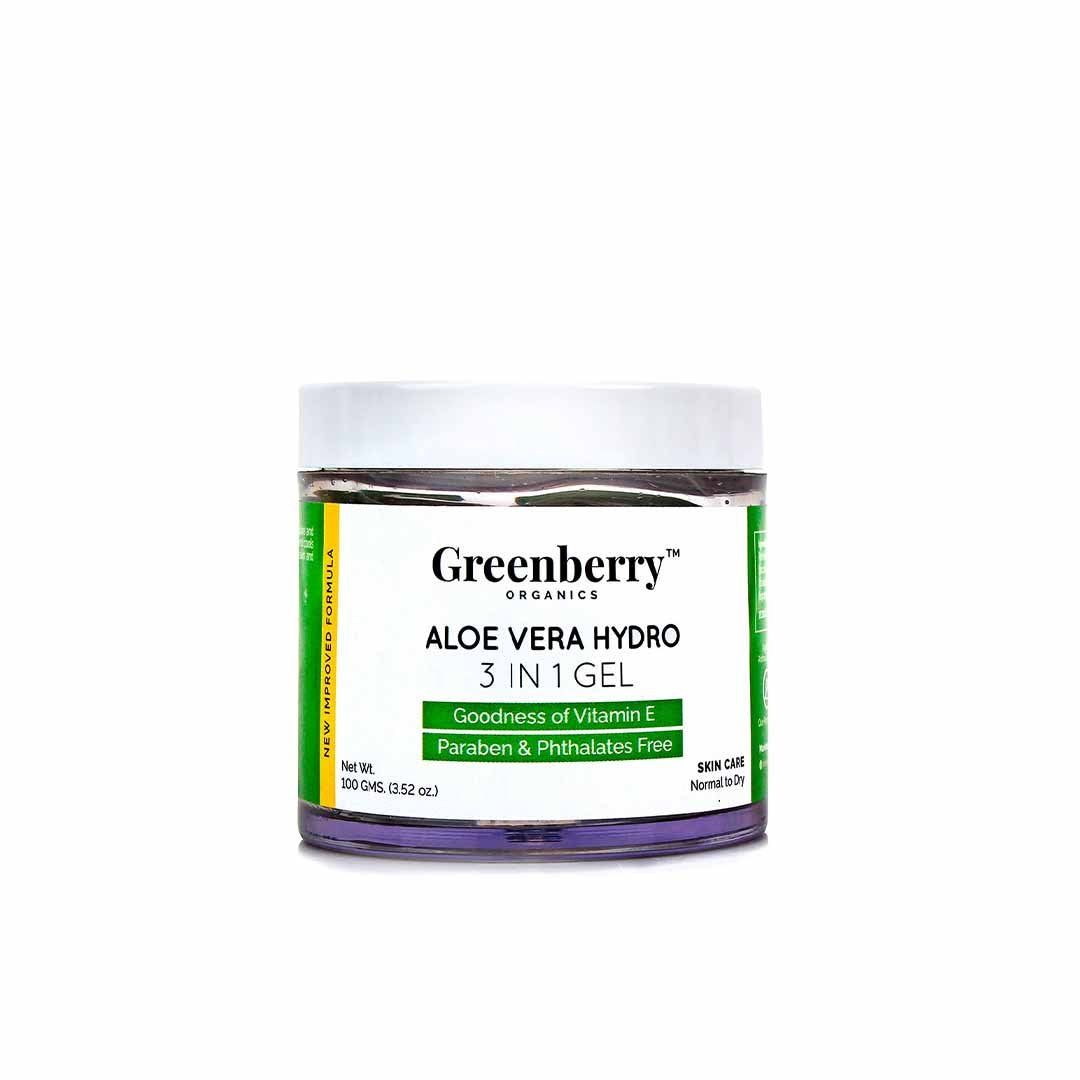 Greenberry Organics Aloe Vera Hydro 3 in 1 Gel with Vitamin E -1