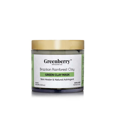 Greenberry Organics Brazilian Rainforest Clay, Green Clay Mask -1