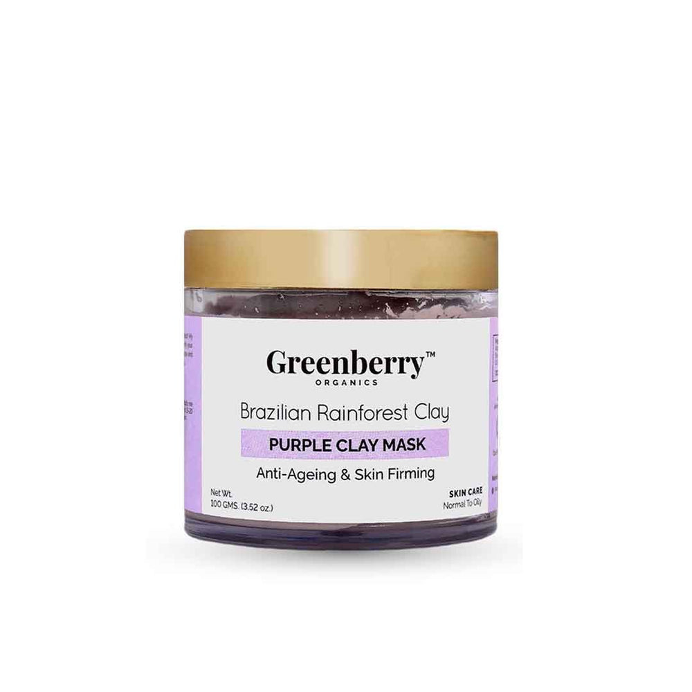 Greenberry Organics Brazilian Rainforest Clay, Purple Clay Mask -1