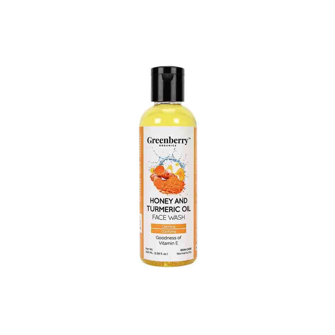 Greenberry Organics Honey and Turmeric Oil Face Wash with Vitamin E -1