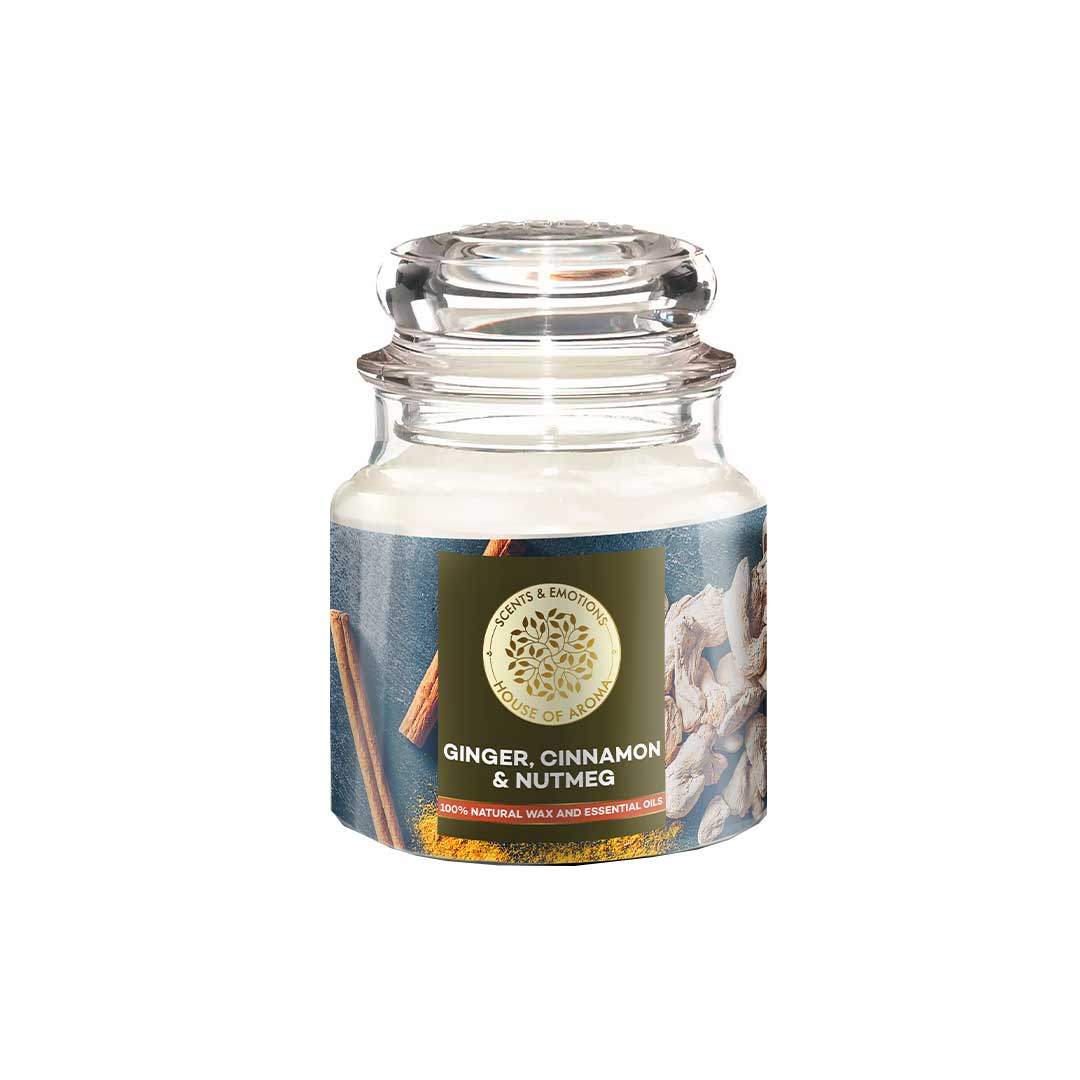 Vanity Wagon | Buy House of Aroma Ginger, Cinnamon and Nutmeg Scented Candle for Aromatherapy