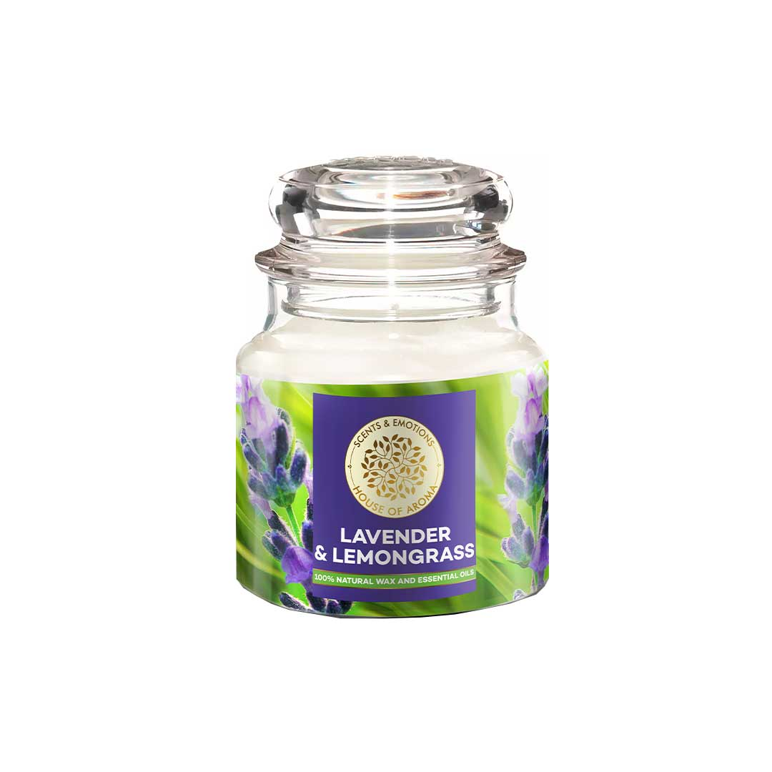 Vanity Wagon | Buy House of Aroma Lavender & Lemongrass Scented Candle for Aromatherapy