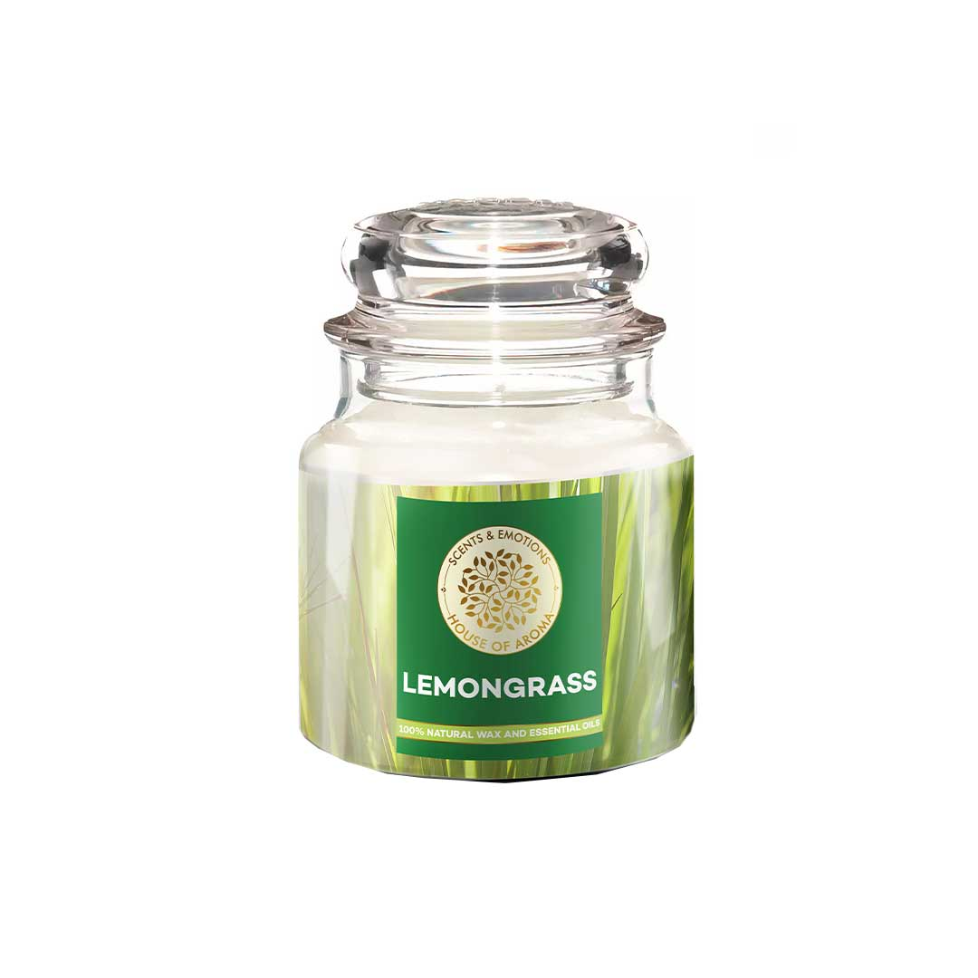 Vanity Wagon | Buy House of Aroma Lemongrass Scented Candle for Aromatherapy