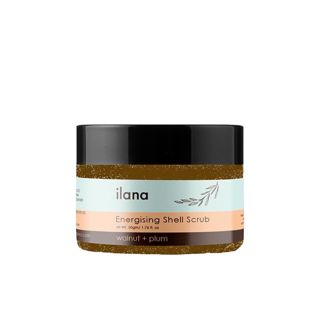 Ilana Organics Energising Shell Scrub, Walnut and Plum