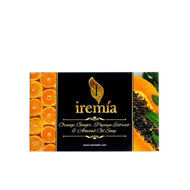 Iremia Orange, Ginger, Papaya Extract and Almond Oil Soap Bar -1