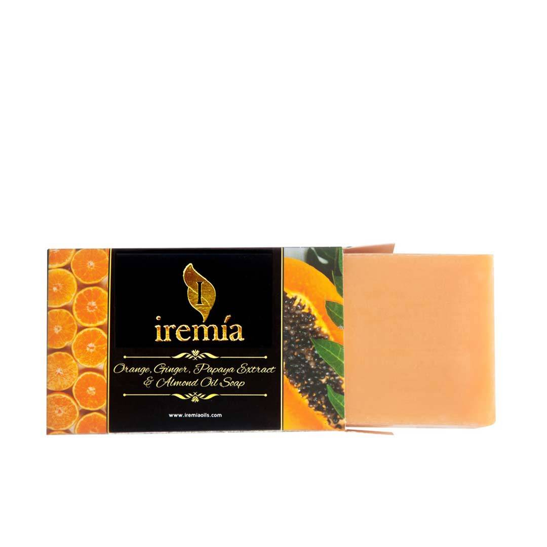 Iremia Orange, Ginger, Papaya Extract and Almond Oil Soap Bar -2