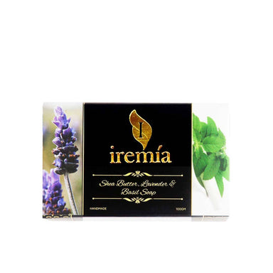 Iremia Shea Butter, Lavender and Basil Soap Bar -1
