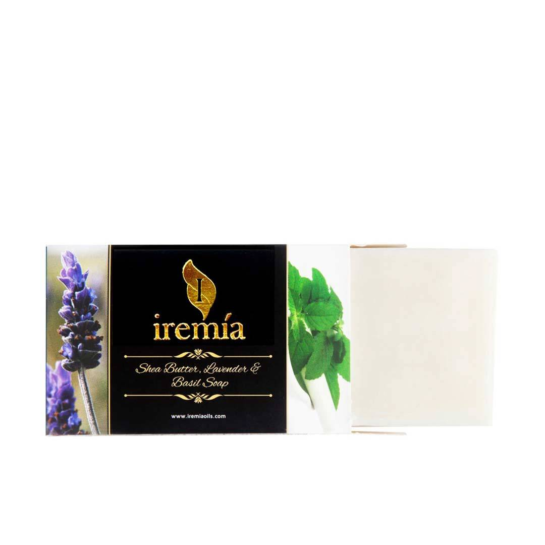 Iremia Shea Butter, Lavender and Basil Soap Bar -2