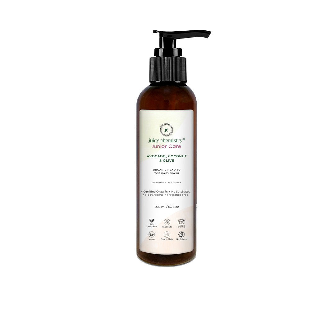 Juicy Chemistry Junior Care, Organic Head To Toe Baby Wash with Avocado, Coconut and Olive -1