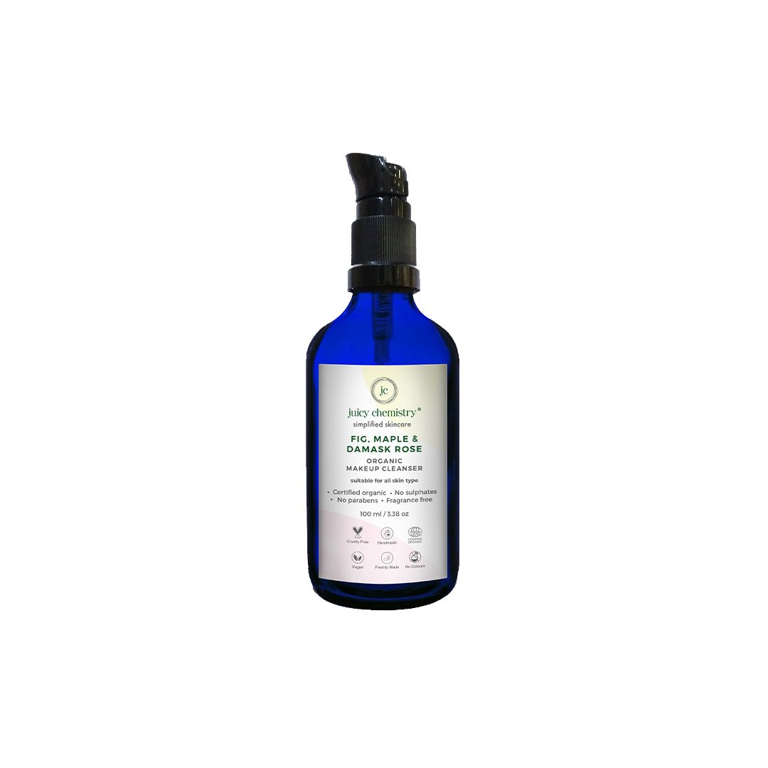 Juicy Chemistry Organic Makeup Cleanser for All Skin Types with Fig, Maplw and Damask Rose -1