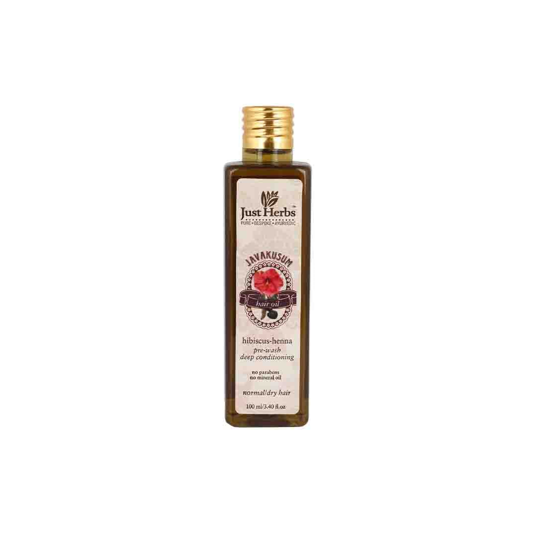 Just Herbs Javakusum, Ayurvedic Hair Oil with Hibscus and Henna