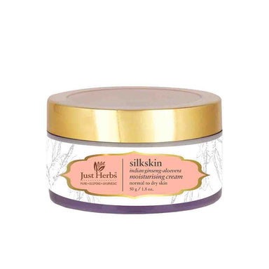 Just Herbs Silkskin, Moisturising Cream with Ginseng and Aloe Vera