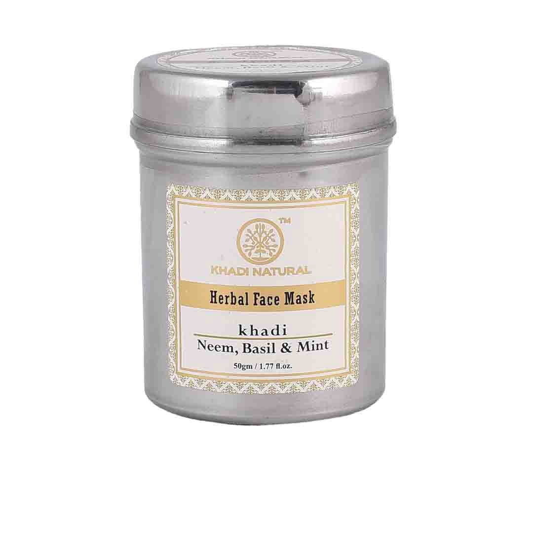 Khadi Natural Herbal Anti Acne Face Mask with Neem, Basil and Mint -1