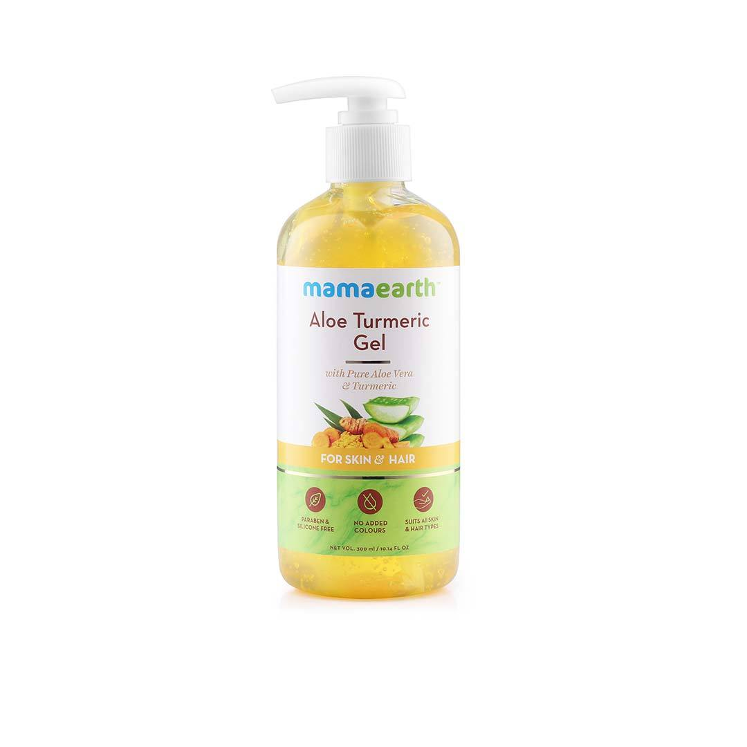Mamaearth Aloe Turmeric Gel for Skin and Hair with Aloe Vera and Turmeric -1